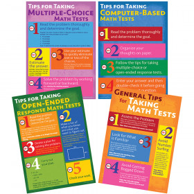 Math Testing Tips Bulletin Board Set