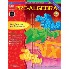 Pre-Algebra Resource Book, Grade 6-8, Paperback