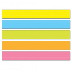 "Lined Multicolored Sentence Strips, 3"" x 24"", Pack of 75"