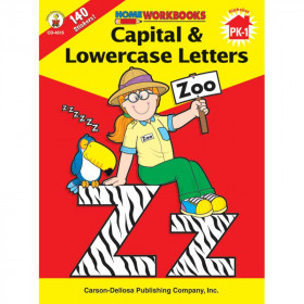 Home Workbook Capital & Lowercase Gr Pk-1 Lowercase Letters