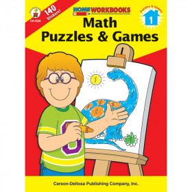 Math Puzzles & Games Gr 1 Home Workbook