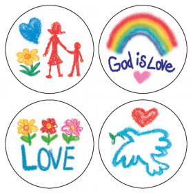Faith Stickers, Pack of 120
