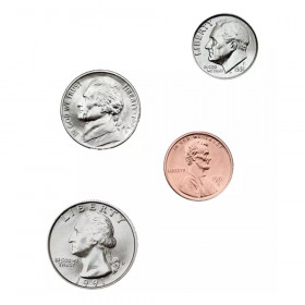 Money, U.S. Coins: Photographic Shape Stickers