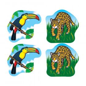 Rainforest Animals Shape Stickers