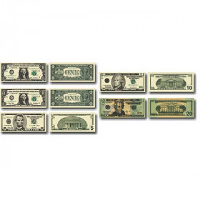 Money, U.S. Bills: Photographic Shape Stickers