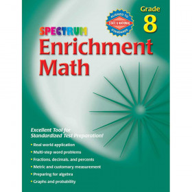 Spectrum Enrichment Math Workbook Gr 8
