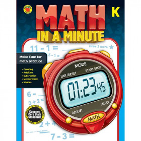 Math In A Minute Book Gr K