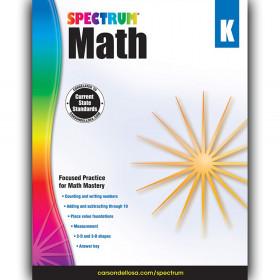 Math Workbook, Grade K, Paperback