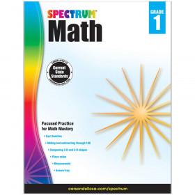 Math Workbook, Grade 1, Paperback