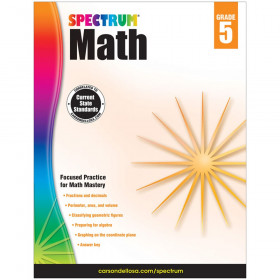 Math Workbook, Grade 5, Paperback