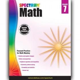 Math Workbook, Grade 7, Paperback