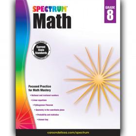 Math Workbook, Grade 8, Paperback