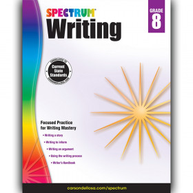 Writing Workbook, Grade 8, Paperback