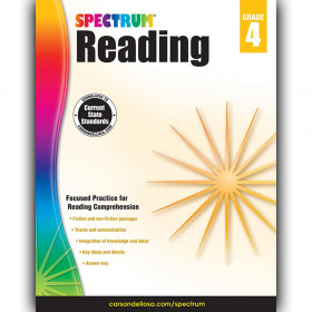 Reading Workbook, Grade 4, Paperback