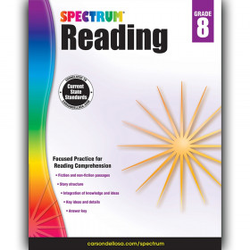 Reading Workbook, Grade 8, Paperback
