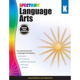 Language Arts Workbook, Grade K, Paperback
