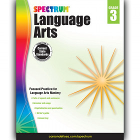 Language Arts Workbook, Grade 3, Paperback
