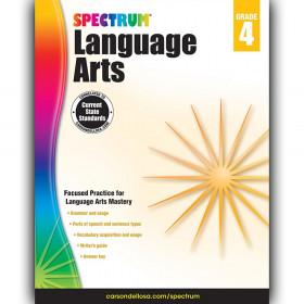 Language Arts Workbook, Grade 4, Paperback