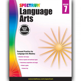 Language Arts Workbook, Grade 7, Paperback