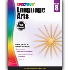 Language Arts Workbook, Grade 8, Paperback