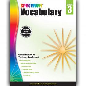 Spectrum Spectrum Vocabulary, Grade 3