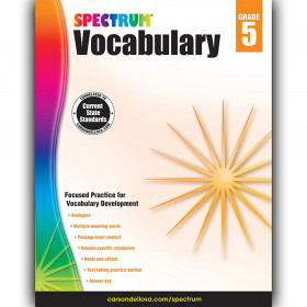 Spectrum Spectrum Vocabulary, Grade 5