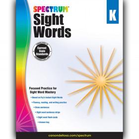 Sight Words Workbook, Grade K, Paperback