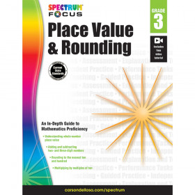 Spectrum Place Value and Rounding, Grade 3