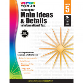 Spectrum Reading for Main Ideas and Details in Informational Text, Grade 5