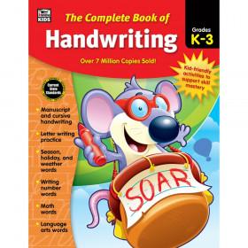 The Complete Book of Handwriting Workbook, Grade K-3, Paperback
