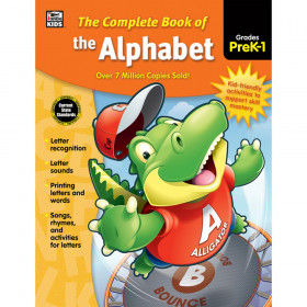 The Complete Book of the Alphabet Workbook, Grade PK-1, Paperback