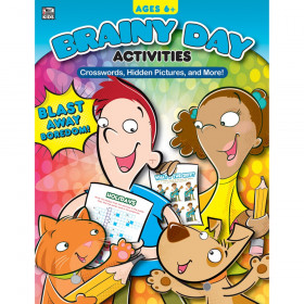 Brainy Day Activities Crosswords, Hidden Pictures, and More, Ages 6-8
