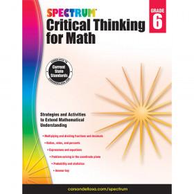 Critical Thinking For Math Wb Gr 6