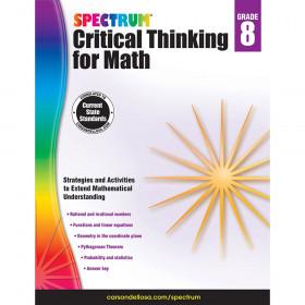 Critical Thinking For Math Wb Gr 8