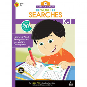 Skills for School Word Searches, Grades K-1