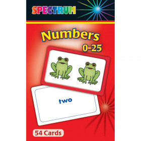 Spectrum Flash Cards Numbers 0-25 Gr Pk-1