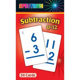 Spectrum Flash Cards Subtraction 0-12 Gr 1-3
