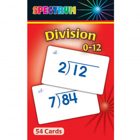 Spectrum Flash Cards Division 0-12 Gr 3-5