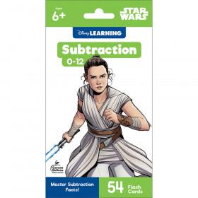 Star Wars Subtraction 0-12 Flash Cards, Grade 1-3