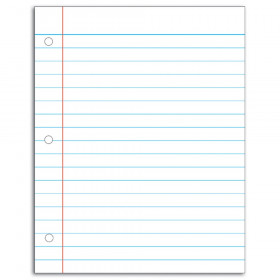 Notebook Paper Write-On/Wipe-Off Chart
