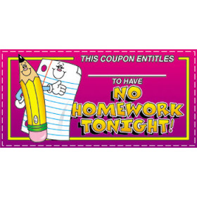 No Homework Tonight! Coupons