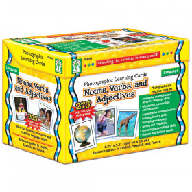 Nouns, Verbs, and Adjectives Photographic Learning Cards