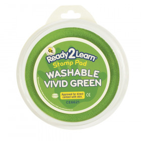 Jumbo Circular Washable Stamp Pad, Vivid Green