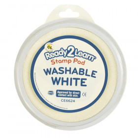 Jumbo Circular Washable Stamp Pad, White