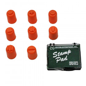 Finger Paint/Stampers with pad, 8/pkg