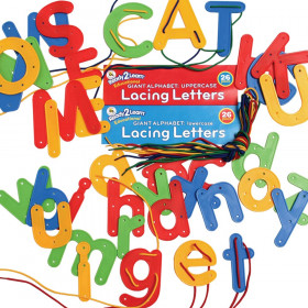 Lacing Alphabet, Uppercase & Lowercase Combo, Set of 68