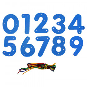 Lacing Numbers 0-9, Set of 14