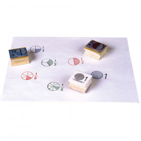 Stamp Set Fraction Circle 6/Pk