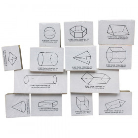 Geometric Shape Stamps, 3D, Set of 13