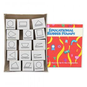 Geometric Shape Stamps, 2D, Set of 15